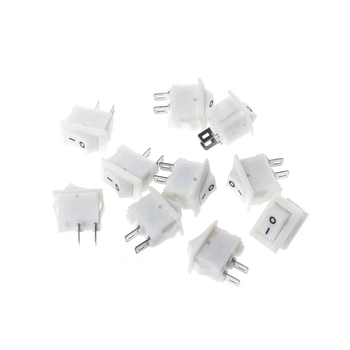 10 Adet 2 Pin 10x15mm SPST ON/OFF Lehim Terminali Tekne Rocker Anahtarı 3A AC 250 V L15